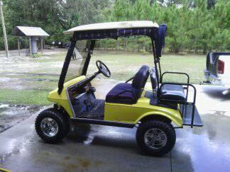 02 lifted club car golf cart - $3950