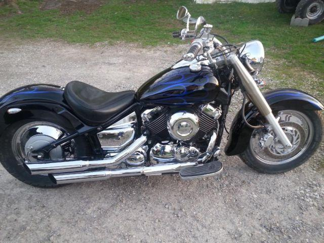 02 yamaha vstar classic 650 completely customized 6099 miles for sale in calwood missouri. Black Bedroom Furniture Sets. Home Design Ideas