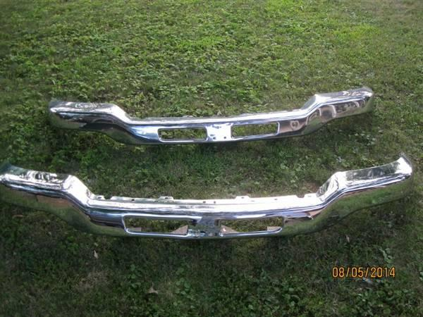 03-06 GMC Sierra pickup front bumper and spoiler - $100