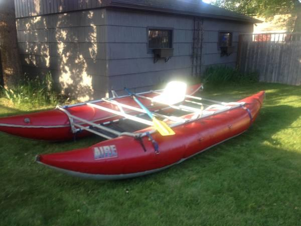 03' Aire 16ft  Cataraft w/NRS frame - $2400