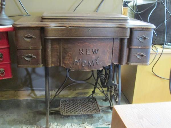 041  New Home Pedal Sewing Machine - $50
