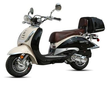 $1,000 2012 BWM heritage two tone scooter (black and