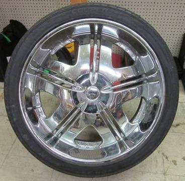 dub 24 inch chrome rims tires 6 lug for sale in tampa. Black Bedroom Furniture Sets. Home Design Ideas