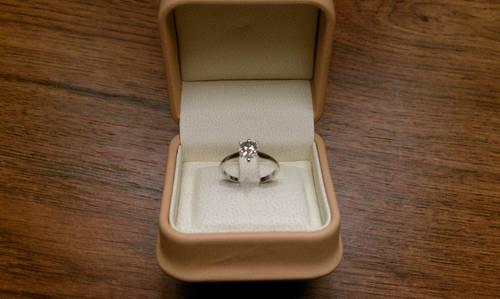 Las Pear Shaped Diamond Solitaire White Gold