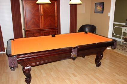 $1,250 OBO 8 Ft United Billiards Slate Pool Table