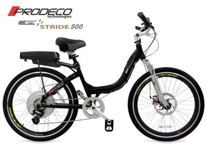 $1,299 Prodeco Technologies 2013 Folding Stride 500 Black Electric Bicycle eBike