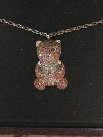 1/3 Ct Diamond Teddy Bear Pendant