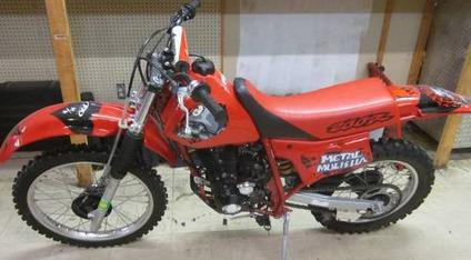 $1,300 1998 Honda Xr200r Dirt Bike Red 200cc - Runs