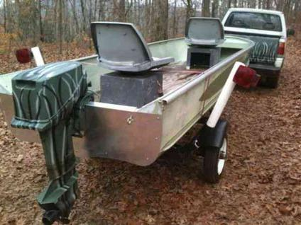 15 ft duracraft 15 hp johnson starts easy and runs great for Metal craft trailers parts
