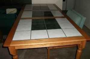 Obo Custom Farmhouse Sttle Tile Top Rectangular Dining