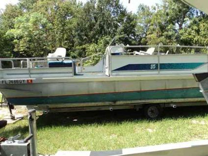 20 39 pontoon 50 hp evinr for sale in panama city florida classified. Black Bedroom Furniture Sets. Home Design Ideas