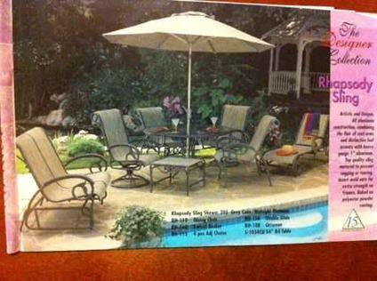 $1,560 Patio Furniture Mallin Rhapsody Aluminum High