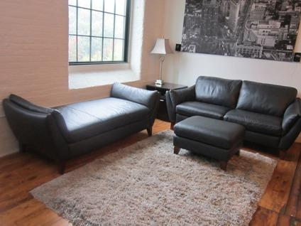 Enjoyable Obo Natuzzi Edition 100 Leather Sofa Chaise Ottoman For Caraccident5 Cool Chair Designs And Ideas Caraccident5Info
