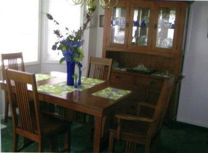 mission style cherry dining room set incl hutch for sale