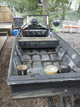 Obo 14 39 Jon Boat With Trailer And Fresh Motor For Sale In