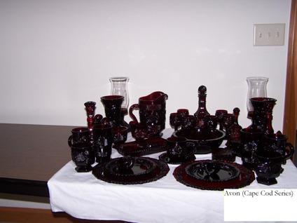 $1 Avon Red Dish Collection, Cape Cod Trade Wheels Rims