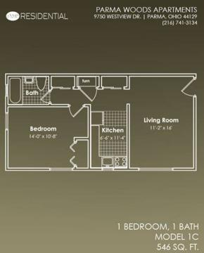 1 Bed - Westview North Apartments