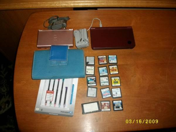 1 - DS Lite - 1 DSi XL - 2 AC Battery Chargers - 5 Stylus - $195