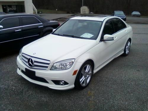 1 owner 2010 mercedes c300 4matic 4dr 33k white w beige for Mercedes benz poughkeepsie ny