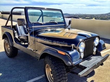 1976 jeep cj7 golden eagle stunner for sale in austin texas classified. Black Bedroom Furniture Sets. Home Design Ideas