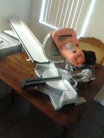 10 compound sliding miter saw w 4 ft ext table and delta for 10 foot sliding table saw