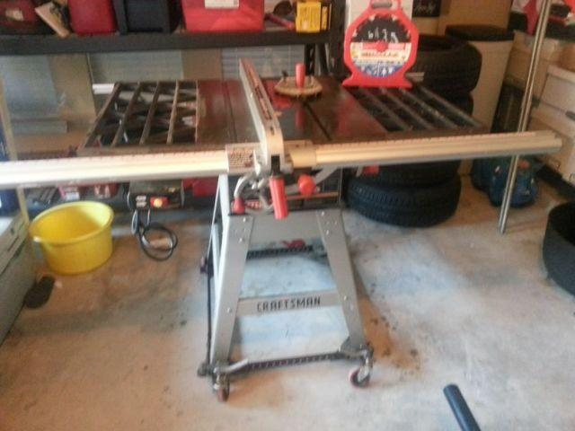 """10"""" Craftsman Table Saw W/ Dado Blade & Insert For Sale In"""