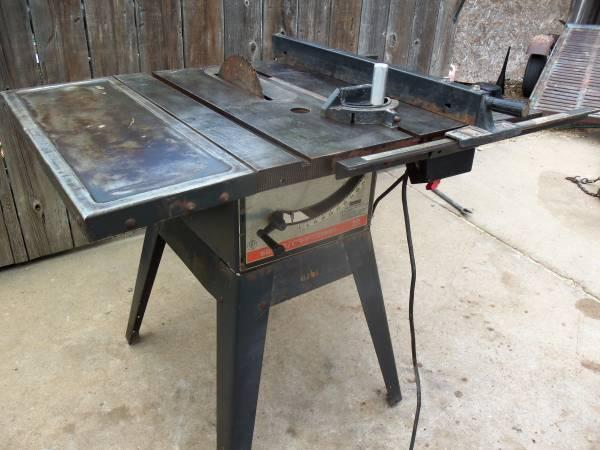 10 Sears Table Saw, Belt Dr. Lt.  Rt. Extensions, Baldor Motor