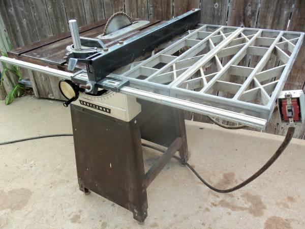 10 Sears Table Saw, WStand  Rt. Extension 220Volt - Runs Great