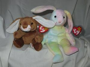 68eab8b3b9a Ty Beanie Babies Ears the Bunny Rabbit Hippie the Tie Dyed Bunny for ...