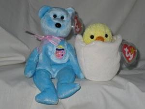 ac733d0ce08 Ty Beanie Babies Set of 2 Eggs II the Bear and Eggbert the Chick for ...