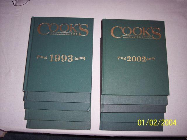 10 VINTAGE COOKS ILLUSTRATED ANNUAL COOKBOOKS