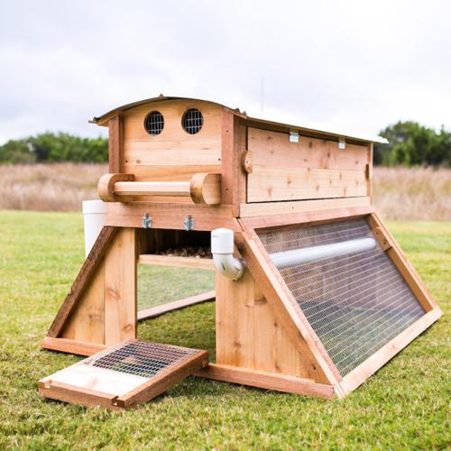 100 cedar usa made mobile backyard chicken coop for sale for Mobile chicken coops
