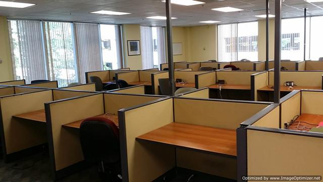 (100) Cubicles 4x3 Low Height Call Center