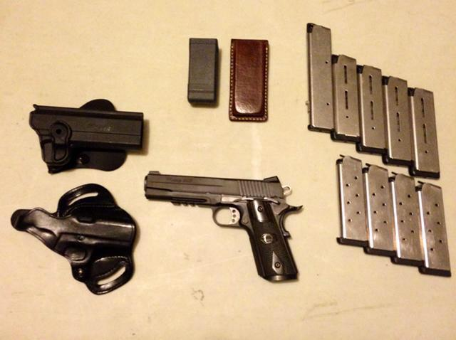 100 drop sig sauer 1911 blackwater complete spikes tactical