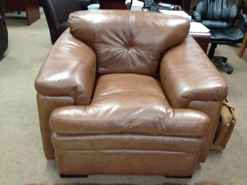100% Genuine Leather - Bermuda Acorn Living Room