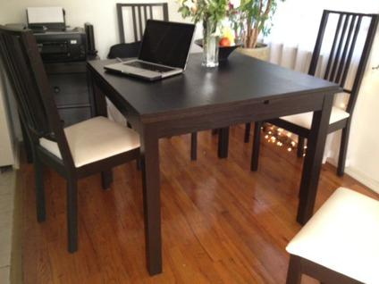 obo beautiful black square kitchen dining table with