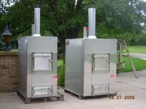 100 Stainless Steel Outside Wood Burning Furnace