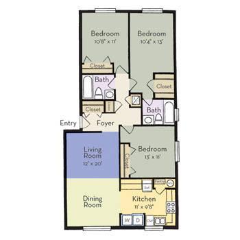$1040 3 Apartment in Oviedo Seminole (Altamonte)
