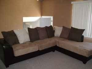 10ft X 7ft Sectional S Leather Amp Micro Suede Ashley 4
