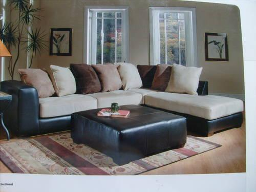10ft X 7ft Sectional S Leather Amp Micro Suede Ashley For