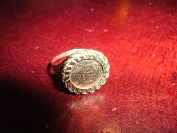10K 120 ounce Gold Chinese Panda Copy Coin ring. Size 6.5. 2-grams. - $150