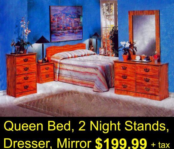 10PC BEDROOM SET ONLY $399 INC.H/B,2NS,DR,MR