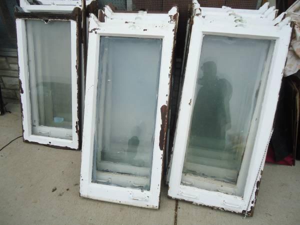 11 pair of top bottom old vintage windows wood frames for Wood windows for sale online