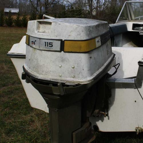 115 hp Johnson outboard motor - needs work or for parts - $350 (Candler,  N C )