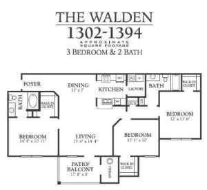 3br 1364ft u00b2 under a sq foot   walden glen apartment