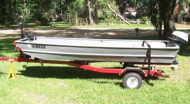 12 Aluminum Jon Boat 4hp Motor Motor Guide Trolling Mtr