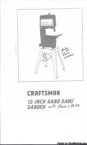 12-inch CRAFTSMAN BAND SAW