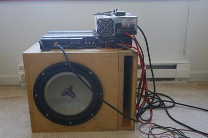 12 JL Audio Subwoofer w Amp  Power Supply