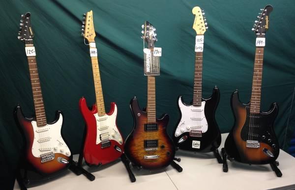 12 NEW GUITARS CHEAP IBANEZ WASHBURN FENDER BIG BUYOUT FREE GUITAR BAG - $75