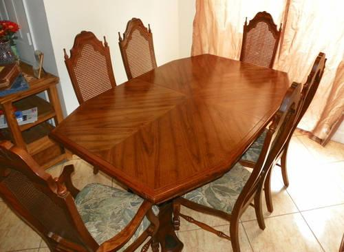 12 Piece Solid Oak Dining Room Set 6 Chairs Table China Cabinet For Sal